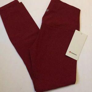NWT Lululemon Align 7/8 Pant Size 6 Dark Sport Red